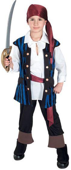 Lasten Naamiaisasu; Piraatti Prinssi. Piraatti Prinssin naamiaisasu on upea asu pienelle merten kauhulle! Sisältää: -Huivin -Paidan -Liivin -Housut kengänpäällisillä -Vyön