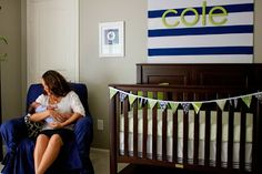 Three Men and a Girly Girl: Cole's Navy and Green Nursery