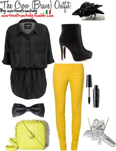 """""""The Crow (Brave) Outfit:"""" by martinafromitaly ❤ liked on Polyvore"""