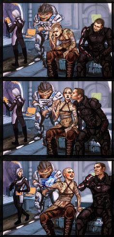 Mass Effect Commision by Jinzali on deviantART