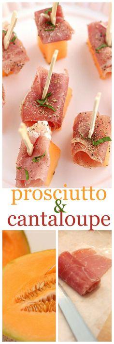 prosciutto and cantaloupe @createdbydiane
