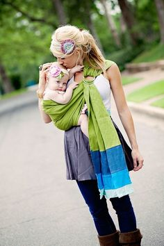 DIY baby sling: just two metal rings and a long strip of fabric of your choice.