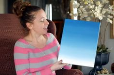 ombre art on canvas | diy how to paint an ombre canvas painting