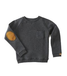 6c300800483e Boys sweater with contrast - padded anthracite