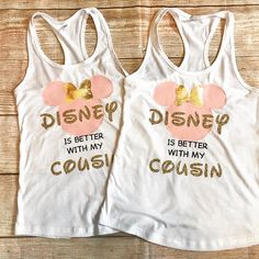 Disney cousin shirt Disney matching shirt customize your own Disney Family, Disney Shirts For Family, Family Shirts, Bff Shirts, Vacation Shirts, Vinyl Shirts, Disney Time, Run Disney, Disney Fun