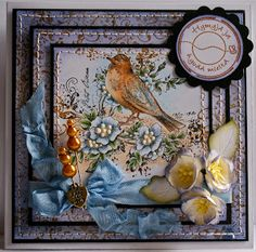 Hello everyone! Lisa B here to announce the winner of the animal antics challenge. I am running a bit behind announcing the winners. Animal Antics, Title Card, Bird Cards, Shabby, Hello Everyone, Bird Feathers, Embellishments, Birds, Photo And Video