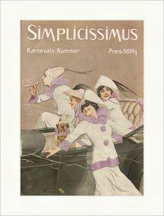 Titelseite der Nummer 54 von 1913 Brynolf Wennerberg Cabrio Simplicissimus 0903 - Billerantik