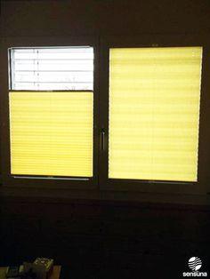 Für sonnige Augenblicke mit gelben Plissees von sensuna® / For sunny moments with yellow pleated shades by sensuna®