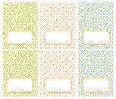 FREE printable spring note cards and place cards        http://amyjdelightful.blogspot.com/