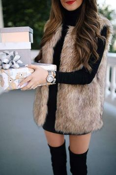 65 ultimate spring outfits to inspire you 53 Winter Mode Outfits, Winter Fashion Outfits, Autumn Winter Fashion, Spring Outfits, Trendy Outfits, Dressy Winter Outfits, Spring Clothes, Western Outfits, Fur Vest Outfits