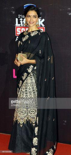 Indian Bollywood actress Deepika Padukone attends the 'Life OK Screen...