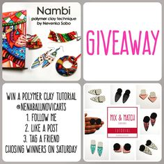 Instagram Giveaway, I Decided, Clay Tutorials, Most Popular, Polymer Clay, Popular