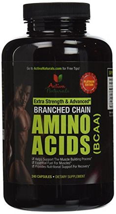 Activa Naturals BCAA Supplement- 240 Capsules of Branched Chain Amino Acids * To view further for this item, visit the image link.