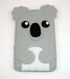 Baby Koala Kawaii Bear Felt Case  iPhone iPod by TheCuriousCaseLLC