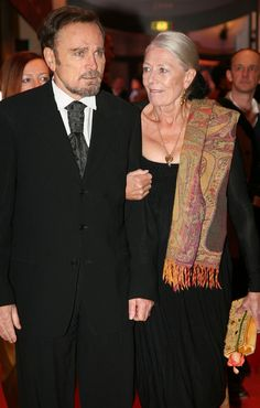 Vanessa Redgrave and husband Franco Nero. WAIT, VR had two daughters out of wedlock with FN after filming Camelot. But, she's married to Timothy Dalton.