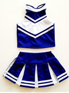In Youth Ion Cheer Revolution Blue White Style; Silver Cheerleading Uniform Size Medium Fashionable