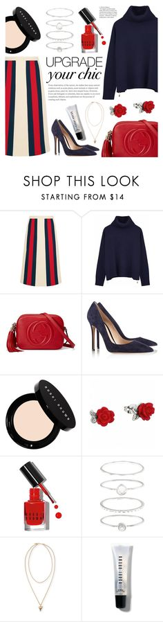 """""""Untitled #140"""" by raniaghifaraa ❤ liked on Polyvore featuring Gucci, Ille De Cocos, Gianvito Rossi, Bobbi Brown Cosmetics, Accessorize and Givenchy"""