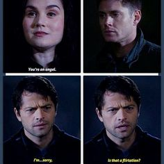Castiel as Emmanuel so adorable but then again Cas is adorable in all forms 7.17 the born again identity