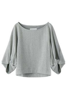 Sleeve detail like the Style Arc 'Sadie' top ザ ヴァージニアポンチボリュームスリーブプルオーバー: Look Fashion, Girl Fashion, Fashion Outfits, Womens Fashion, Modelos Plus Size, Fete Halloween, Cute Blouses, Blouse And Skirt, Casual Fall