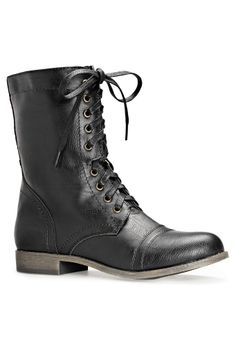 Elsa Lace-Up Combat Boot-Wide Width Boots and shoes-Avenue