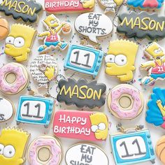 Cookie Frosting, Very Happy Birthday, How To Make Cookies, The Simpsons, Cookie Decorating, Sugar Cookies, Baked Goods, Singing, Baking