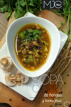 Mushrooms Soups! (#202) #‎curry‬ ‪#‎mushrooms‬ ‪#‎ginger‬ ‪#‎herbs‬ ‪#‎soups‬. Find this recipe here...
