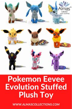 New Pokemon Eevee Shiny Evolution Stuffed Plush Toy Pokemon Eevee Evolutions, Pokemon Plush, New Pokemon, Best Christmas Toys, Birthday Gifts For Boys, Baby Kids Clothes, Cool Toys, Kids Toys, Baby Gifts