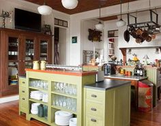 Green Island...@Diane Kennedy, this color looks somewhat familiar on kitchen cabinets, no?