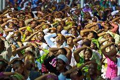 Pentecostal  Christians gather in a mega church, Nigeria.
