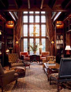 53 Trendy Home Library Ideas Room House English Manor Houses, English House, English Library, English Country Style, English Cottages, American Country, Home Library Design, House Design, Library Ideas