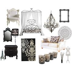 I Love Black And White Decor U0026 MOST OF ALL I MUST HAVE THAT BED!