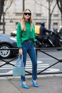 Streetstyle à la Fashion Week Automänner von Paris - Mode Fur Frauen La Fashion Week, Fashion Mode, Denim Fashion, Look Fashion, Trendy Fashion, Trendy Style, Fashion Stores, 50 Fashion, Fashion Lookbook