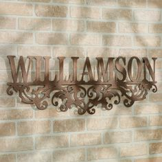 Kinship Name Metal Wall Art Sign Bronze