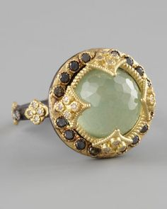 Green Turquoise & Black Diamond Ring by Armenta at Bergdorf Goodman.