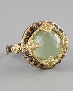 Armenta Vert Turquoise & Black Diamond Ring - Neiman Marcus