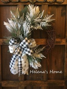 45 Easy DIY Dollar Store Christmas Decorations for Decorating on a Budget - The Trending House Front Door Decor, Wreaths For Front Door, Door Wreaths, Ribbon Wreaths, Christmas Front Doors, Floral Wreaths, Burlap Wreaths, Dollar Store Christmas, Christmas Crafts