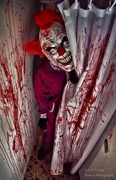 Clowns... I don't like them at all!!! I love horror and spooky shit but take me to a circus and I flip out!!