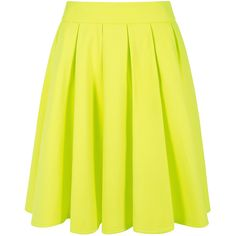 Blaque Label - Neon knit swing skirt (455 BRL) ❤ liked on Polyvore featuring skirts, bottoms, blaque label, neon skirt, yellow pleated skirt, flippy skirt and yellow skirt