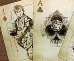 Make poker nights more cunning by playing with the Game of Thrones playing cards. This custom designed deck is a real treat for all fans of the show. Each suit represents a different house while the cards display your favorite characters in amazing de...