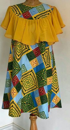 Latest African Fashion Dresses, African Print Dresses, African Dresses For Women, African Wear, African Attire, Batik Fashion, African Design, Simple Dresses, Pattern Fashion