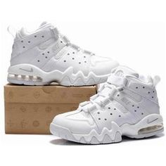 www.asneakers4u.com New Nike Air Max2 CB 94 White Charles Barkley Shoes