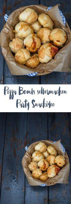 Pizza Bombs selbermachen - Partysnack Rezeptidee - einfach Snackidee fürs Buffet