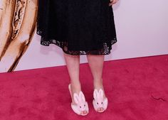 Pin for Later: It's Not #TuesdayShoesday Yet, but Lena Dunham's Heels Could Inspire Their Own Hashtag  And if you're so inclined, you can purchase the same pair for under $100.  Streetzie's High Heel Bunny Slippers ($98)