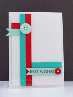This is a great card layout for using up all those little strips of card stock!