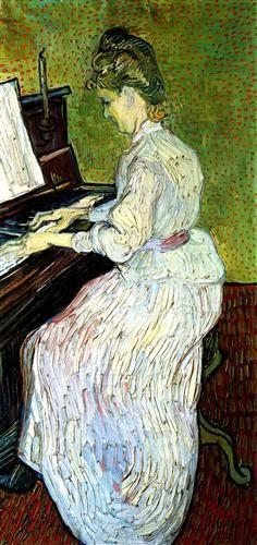 Marguerite Gachet at the Piano - Vincent van Gogh- Completion Date: 1890 - Place of Creation: Auvers-sur-oise, France