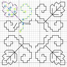 Enjoy this free blackwork pattern and learn double running stitch