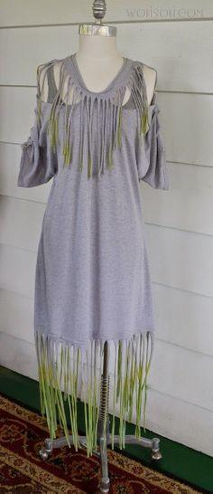 WobiSobi: Tie Dyed Fringe Dress: DIY