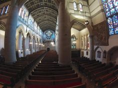 View from the pulpit.