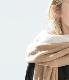 Image 2 of SOFT DOUBLE-LAYERED SCARF from Zara