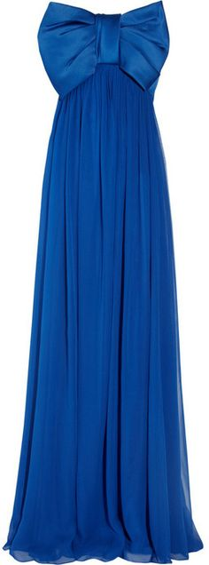 Notte by Marchesa Bow-embellished silk-chiffon gown